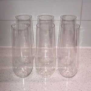 Shatterproof Plastic Champagne Flutes (Set of 6)